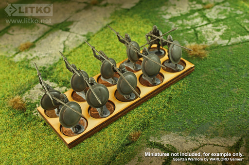 LITKO 5x2 Formation Tray for 20mm Circle Bases Compatible with Oathmark - LITKO Game Accessories