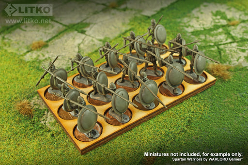 LITKO 5x3 Formation Tray for 20mm Circle Bases Compatible with Oathmark - LITKO Game Accessories