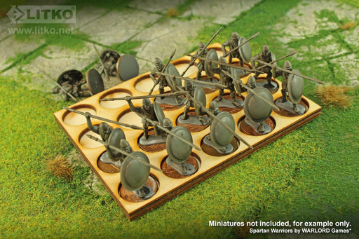 LITKO 5x4 Formation Tray for 20mm Circle Bases Compatible with Oathmark - LITKO Game Accessories