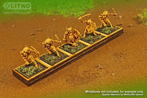 LITKO 5x1 Formation Tray for 20mm Square Bases Compatible with Oathmark - LITKO Game Accessories
