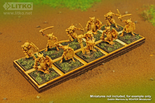 LITKO 5x2 Formation Tray for 20mm Square Bases Compatible with Oathmark - LITKO Game Accessories