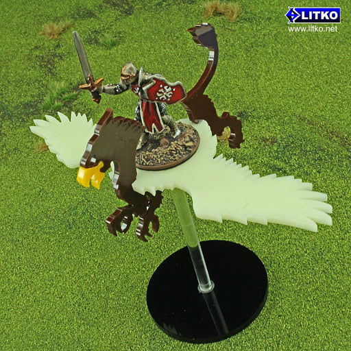 Flying Griffon Character Mount Kit with 2-inch Circle Base - LITKO Game Accessories