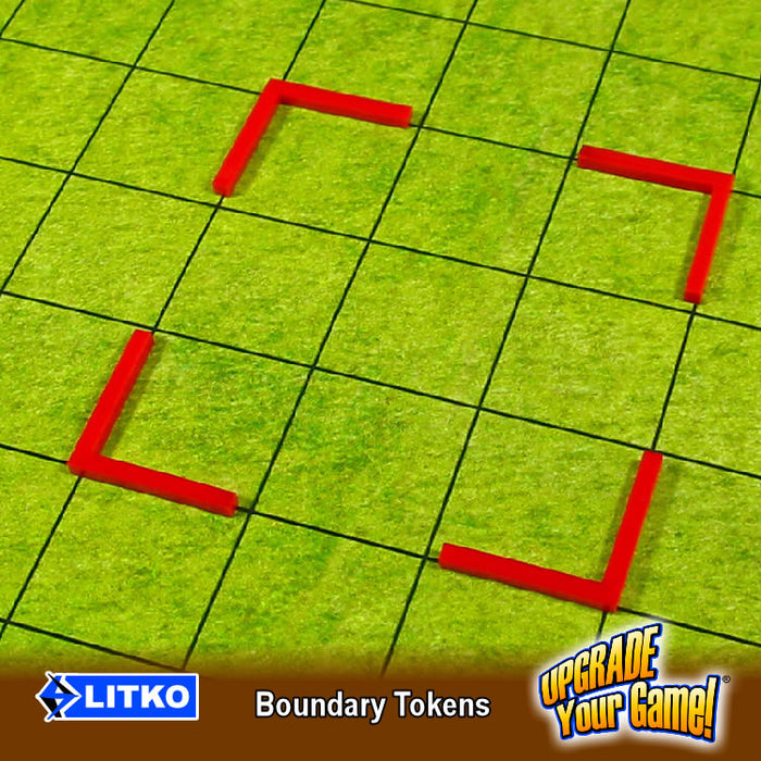 Boundary Tokens, Fluorescent Orange (12) - LITKO Game Accessories