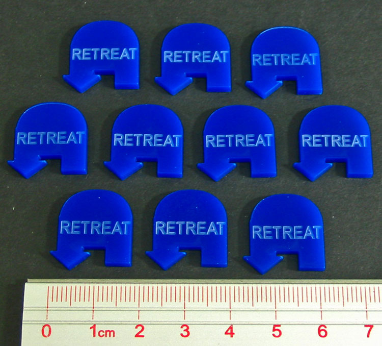 Retreat Tokens, Blue (10) - LITKO Game Accessories