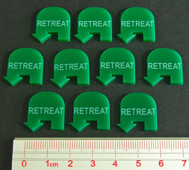 LITKO Retreat Tokens, Green (10) - LITKO Game Accessories