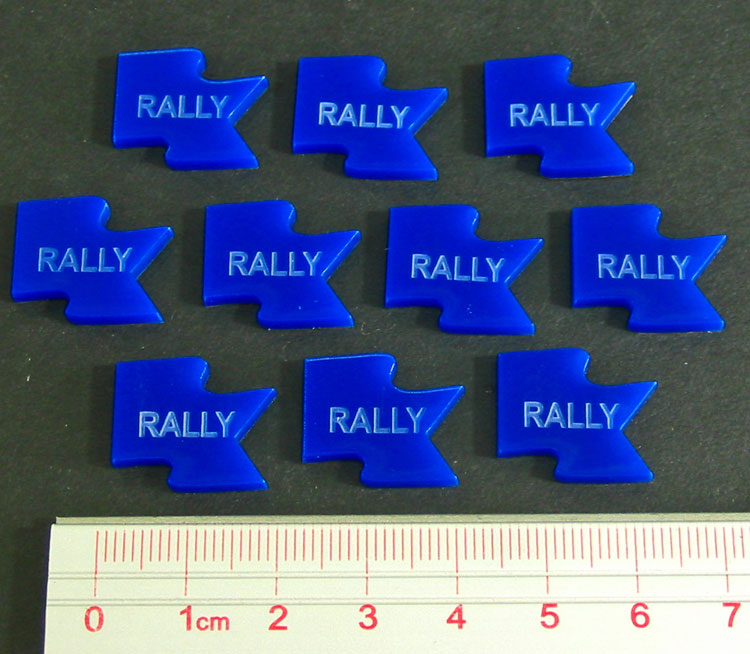 Rally Tokens, Blue (10) - LITKO Game Accessories