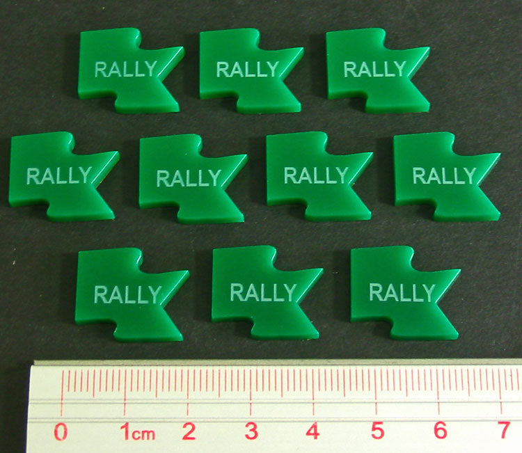 Rally Tokens, Green (10) - LITKO Game Accessories