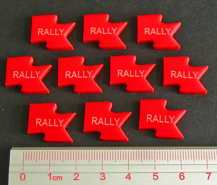 Rally Tokens, Red (10) - LITKO Game Accessories