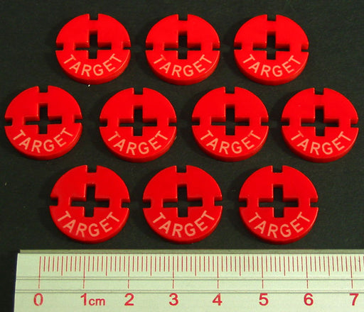 LITKO Target Tokens, Red (10) - LITKO Game Accessories