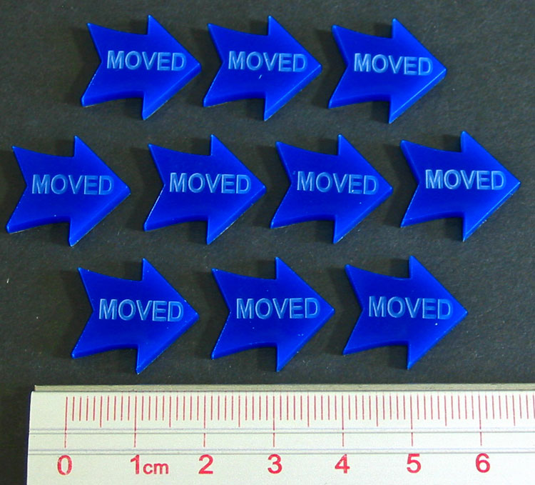 Moved Tokens, Blue (10) - LITKO Game Accessories