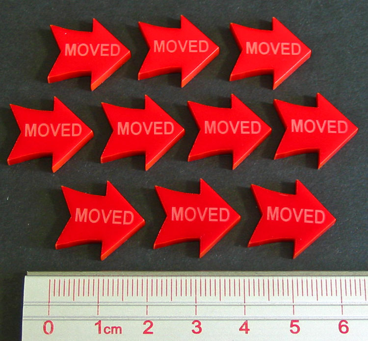 LITKO Moved Tokens, Red (10) - LITKO Game Accessories