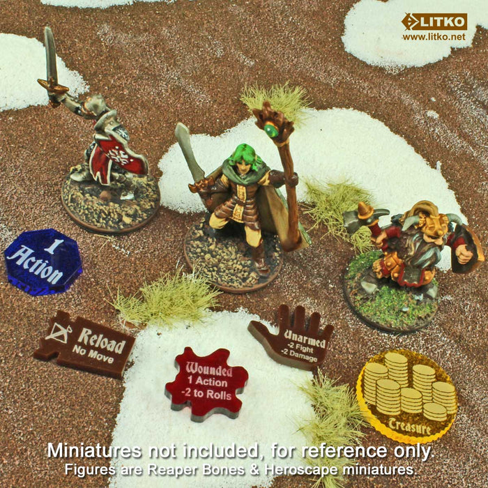 FG: Wound Tokens, Translucent Red (10) - LITKO Game Accessories