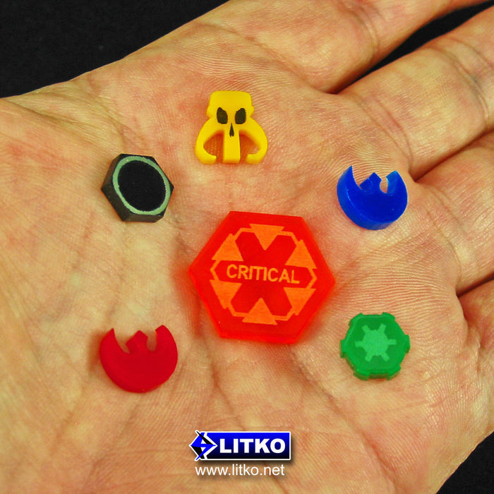 Micro Faction Tokens, Scum, Gold (15) - LITKO Game Accessories