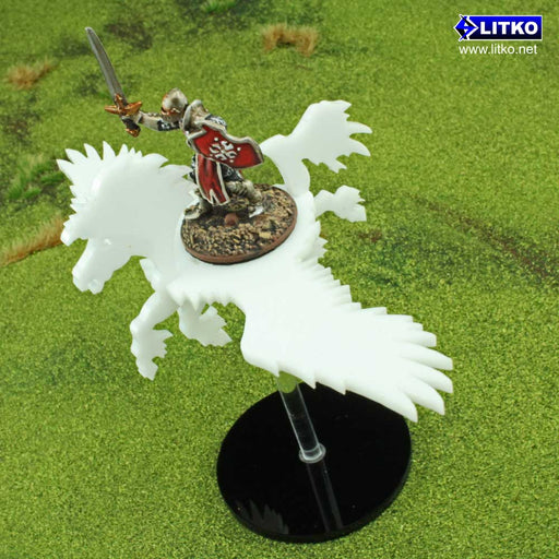 Flying Pegasus Character Mount Kit with 2-inch Circle Base - LITKO Game Accessories