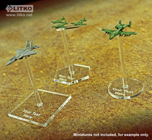 30mm Circular Personalized Flight Bases - LITKO Game Accessories