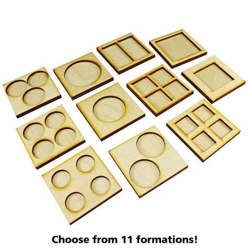 4-Figure 20mm Square Base Rune Battles Proxy Movement Trays (2) - LITKO Game Accessories