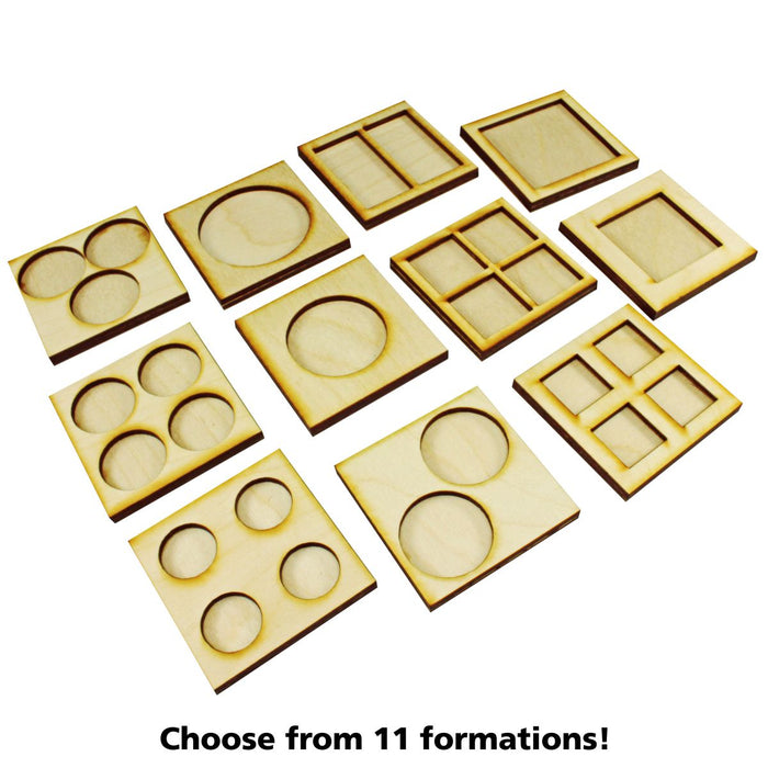 2-Figure 25x50mm Rectangle Base Rune Battles Proxy Movement Trays (2) - LITKO Game Accessories