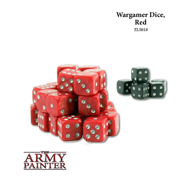Wargamer Dice, Red (36) - LITKO Game Accessories