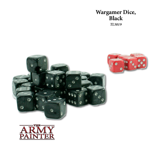 Wargamer Dice, Black (36) - LITKO Game Accessories