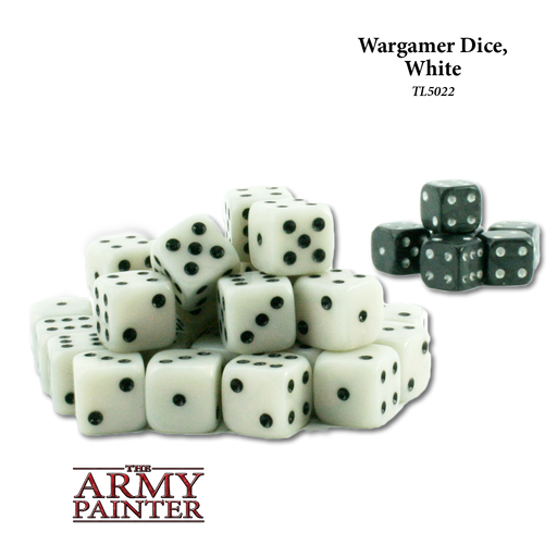 Wargamer Dice, White (36) - LITKO Game Accessories