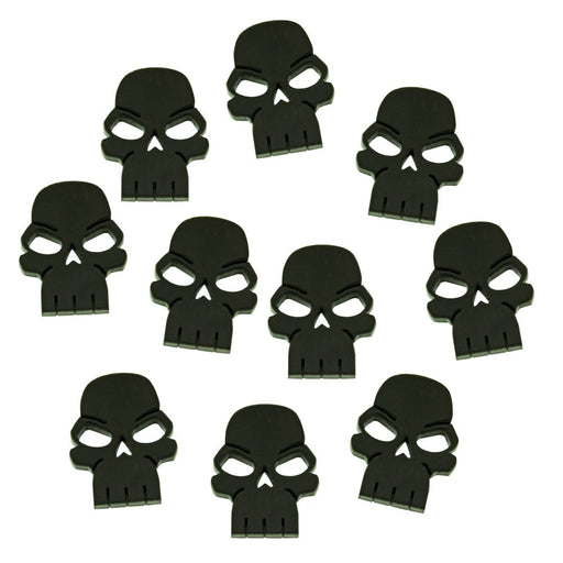 Skull Tokens, Black (10) - LITKO Game Accessories