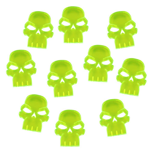 Skull Tokens, Fluorescent Green (10) - LITKO Game Accessories