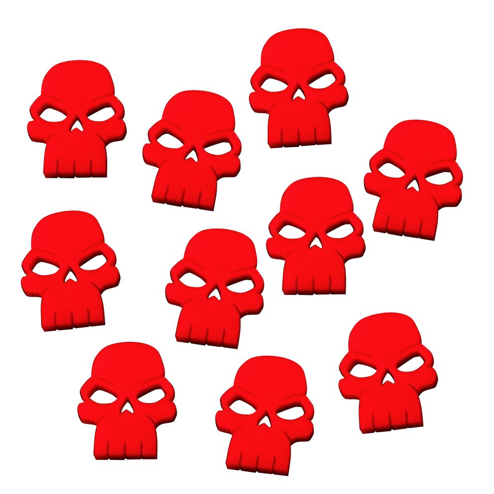 LITKO Skull Tokens, Red (10) - LITKO Game Accessories