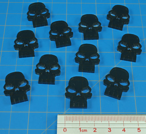LITKO Skull Tokens, Translucent Grey (10) - LITKO Game Accessories