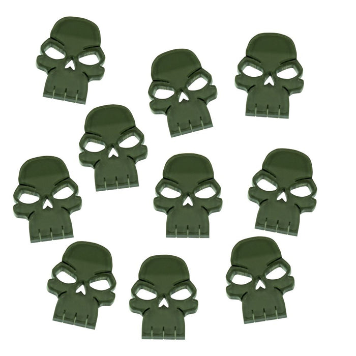 Skull Tokens, Translucent Grey (10) - LITKO Game Accessories