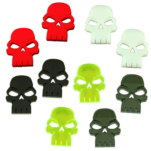 Skull Tokens, Multi-Color (10) - LITKO Game Accessories