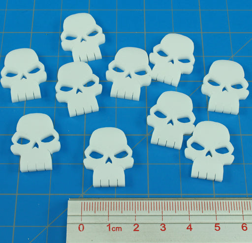 LITKO Skull Tokens, White (10) - LITKO Game Accessories