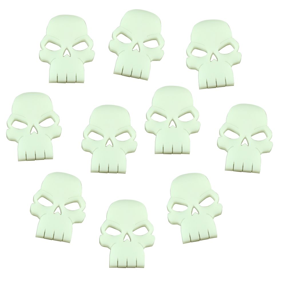 Skull Tokens, White (10) - LITKO Game Accessories