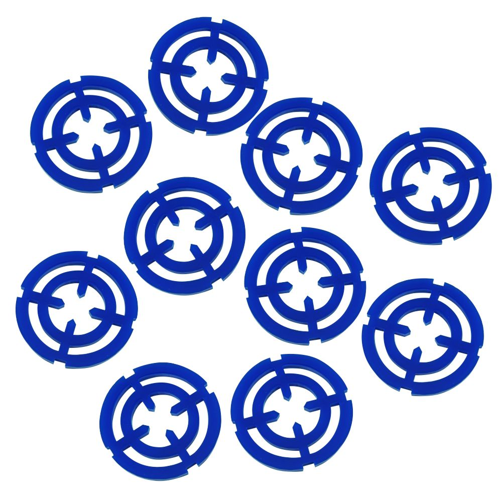 LITKO Targeting Reticle Tokens, Blue (10) - LITKO Game Accessories