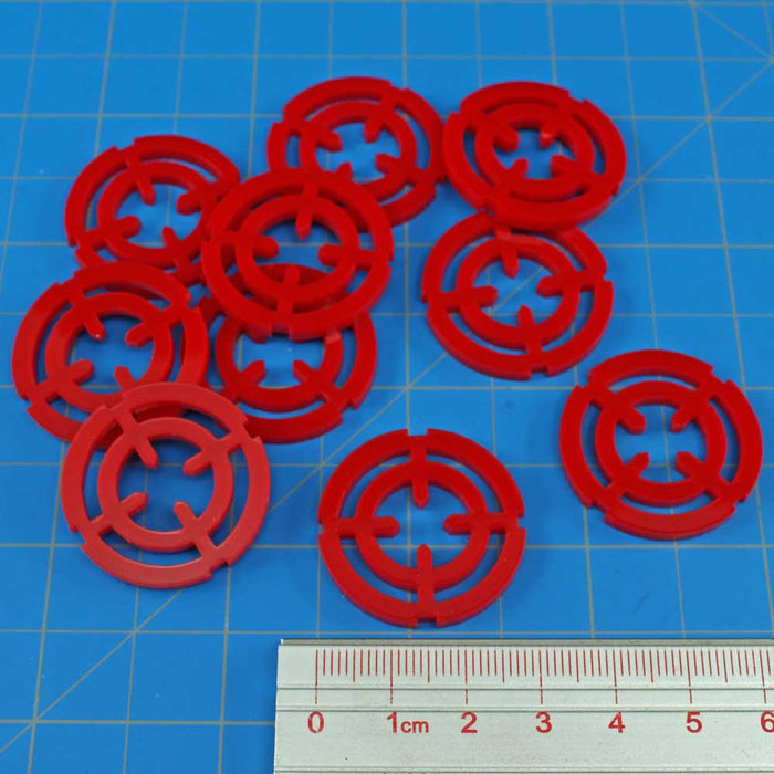 Targeting Reticle Tokens, Red (10) - LITKO Game Accessories