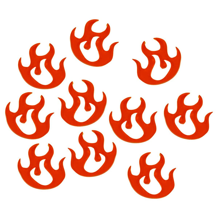 LITKO Large Fire Tokens, Fluorescent Amber (10) - LITKO Game Accessories