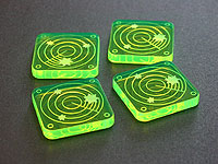 Scanner Blip Tokens, Fluorescent Green (10) - LITKO Game Accessories
