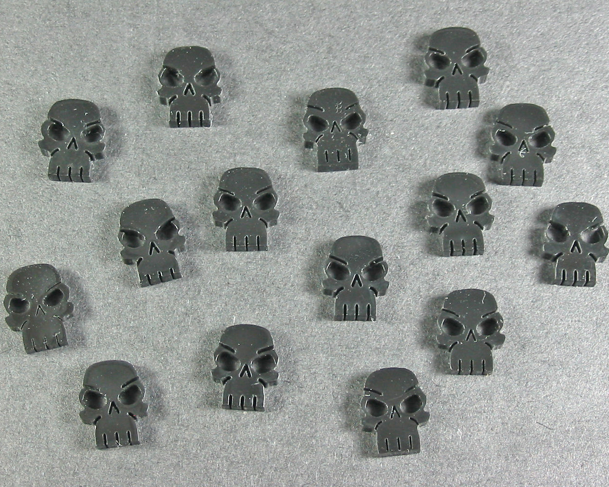Mini Skull Tokens, Translucent Grey (15) - LITKO Game Accessories