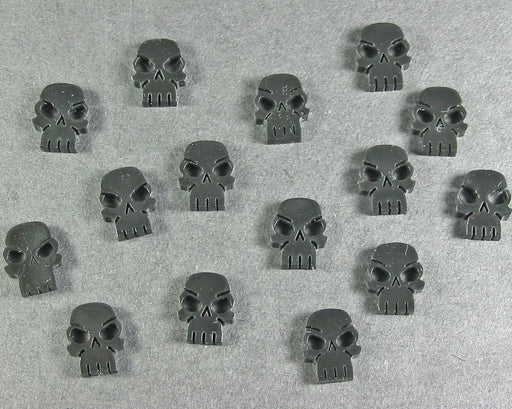 Mini Skull Tokens, Black (15) - LITKO Game Accessories