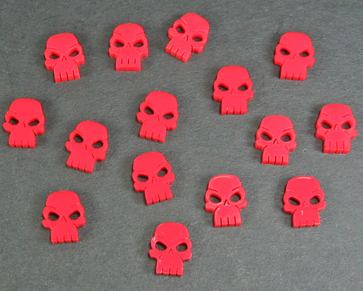 Mini Skull Tokens, Red (15) - LITKO Game Accessories