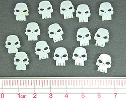 Mini Skull Tokens, Transparent White (15) - LITKO Game Accessories