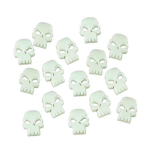 Mini Skull Tokens, White (15) - LITKO Game Accessories
