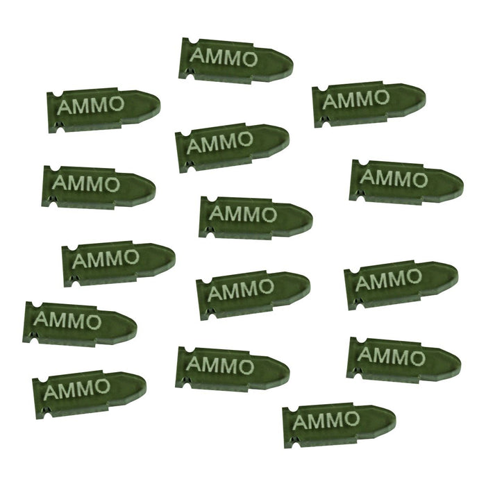 Ammo Tokens, Translucent Grey (15) - LITKO Game Accessories