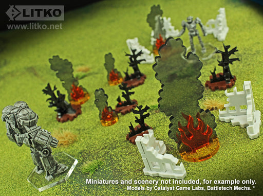 LITKO Flaming Wreckage, Variety Set (5) - LITKO Game Accessories