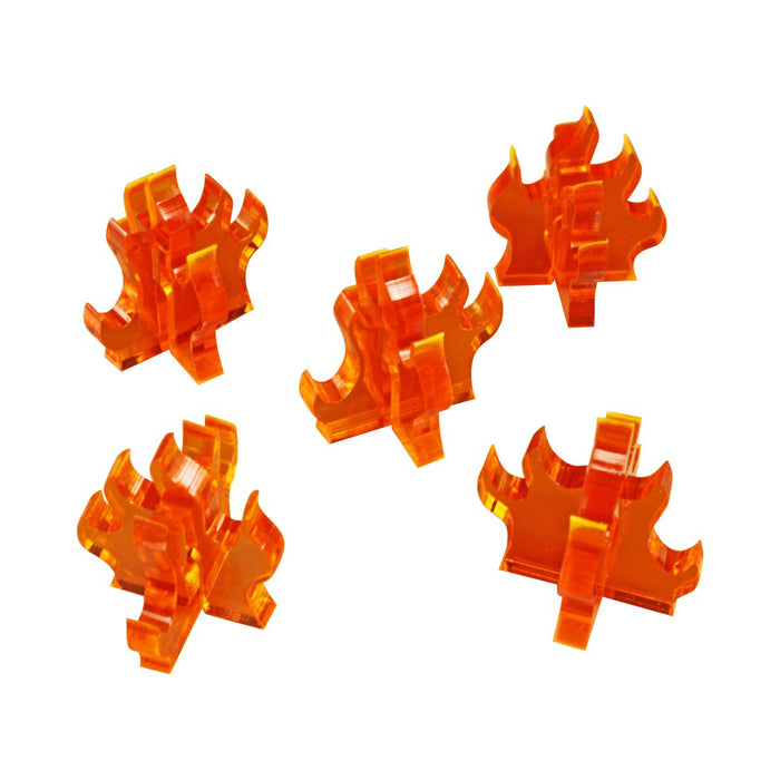 Flame Marker, Medium, Fluorescent Amber (5) - LITKO Game Accessories