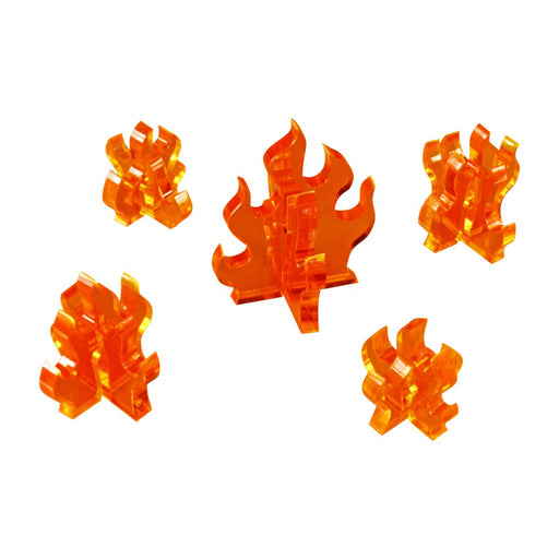 Flame Marker, Variety Set, Fluorescent Amber (5) - LITKO Game Accessories
