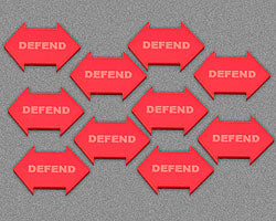 Defend Token, Red (10) - LITKO Game Accessories