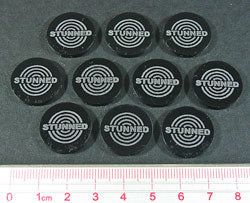Stunned Tokens, Black (10) - LITKO Game Accessories