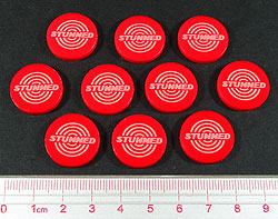 Stunned Tokens, Red (10) - LITKO Game Accessories