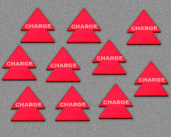 Charge Tokens, Red (10) - LITKO Game Accessories