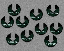 Routed Tokens, Black (10) - LITKO Game Accessories